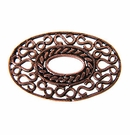 Metalcast Copper Oval Pendant