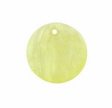 Hammershell Round Light Yellow Shell Beads 25mm