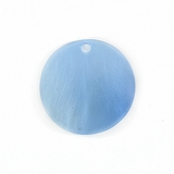 Silver Blue Round Hammershell Beads 25mm