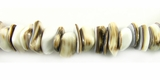 Cowrie Sliced Nugget Shell Beads 3x8mm