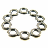 Sterling Silver  Round Multi Ring Links