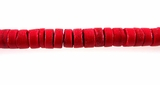 Red Coco Heishi Beads 6-7mm