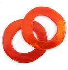 Capiz Shell Irregular Donut Mandarin Orange