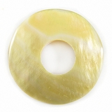 Mother Of Pearl Shell Pendants Donut 35mm