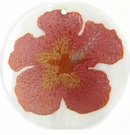 "Metallic Pink ""Gumamela"" Flower Design Round Makabibi"