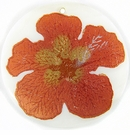 "Metallic Orange ""Gumamela"" Flower Design Round Makabibi"