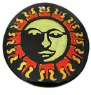 Tab Shell Round Painted Sun Face Pendant