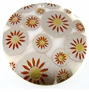 Makabibi Round Painted Embossed Golden Sunburst
