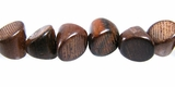 Slant Triangle Tube Tiger Ebony Wood Beads 9x10x10mm