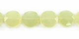New Jade Faceted Coin Beads