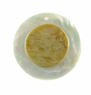 MOP Embossed White Round Shell Pendant 50mm