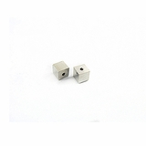 Cube Silver Plated Memory Wire End Caps