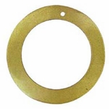 "Gold ""O"" Ring Hammershell Hoop Pendant 45mm"