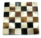 Square Troca & Tab Shell Blocking Inlay Pendant 51mm