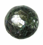 Mosaic Blacklip Shell Inlaid Dome Pendant 12-13x48mm