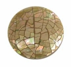 Mosaic Brownlip Shell Inlaid Disc Pendant
