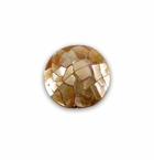 Mosaic Brownlip Shell Inlaid Disc Pendant 25x8mm