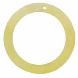"Slight Yellow ""O"" Ring Hammershell Hoop Pendant"