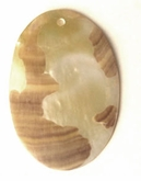 Mother Of Pearl Oval Moon Pendant