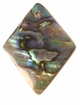 Paua Flat Diamond Shell Pendants 30x40mm