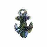 Paua Anchor Shell Pendants 21x34mm