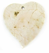Green Shell  Cracking Heart Pendant