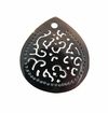 "Carved Blackpen Shell ""Ornate Teardrop"" Pendant"