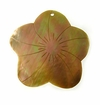 Brownlip Flower Shell Pendants 35mm
