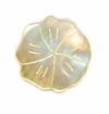 Mother Of Pearl Carved Flower Shell Pendant 28mm