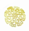"Carved Mother of Pearl Shell ""8-Petal Flower"" Pendant"