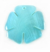 Blue Painted Hammershell Flower Pendant 25mm