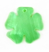 Green Painted Hammershell Flower Pendant 20mm