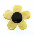 MOP Small Flower Blacktab Dot 25mm