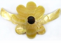 Mop Sun Flower Pendant In Bow Choker 58mm