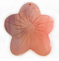 Hammershell Dyed Pink Flower Pendant 50mm