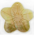 Mother Of Pearl Flower Shell Pendant 50x52mm