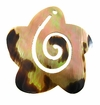 Brownlip Starfish Shell Pendants With Spiral 42mm