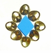 Tapok-Tapok Laminated Blue Diamond Shell Pendants