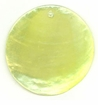 Light Yellow Green Capiz Shell Pendant 46mm