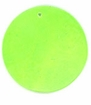 Neon Green Capiz Shell Pendant 25mm