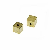 Cube Gold Plated Memory Wire End Caps