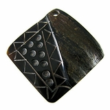 Black Horn Square Pendants