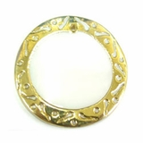 Makabibi 30mm Round In Carved Gold Frame