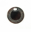 "Carved Blackpen Shell ""Oval-Hole Wheel"" Round Pendant"
