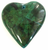 Blue Heart Banana Bark Inlay Pendant