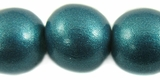 Metallic Turquoise Round Wood Beads 20mm
