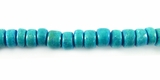 Turquoise Round Coco Beads 4-5mm