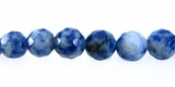 Brazilian Sodalite Round Bead faceted 8mm
