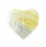 Mother-of-Pearl Shell Leaf Pendant