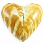 Tiger Shell Heart Pendant
